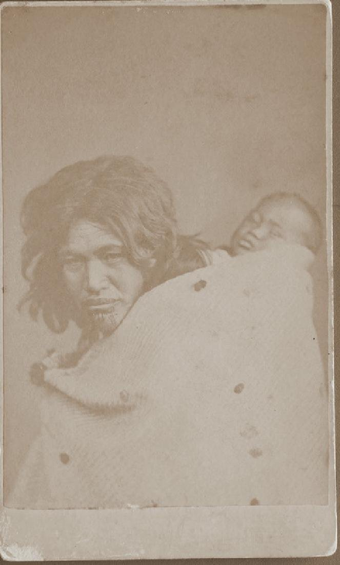 Maori Woman and child