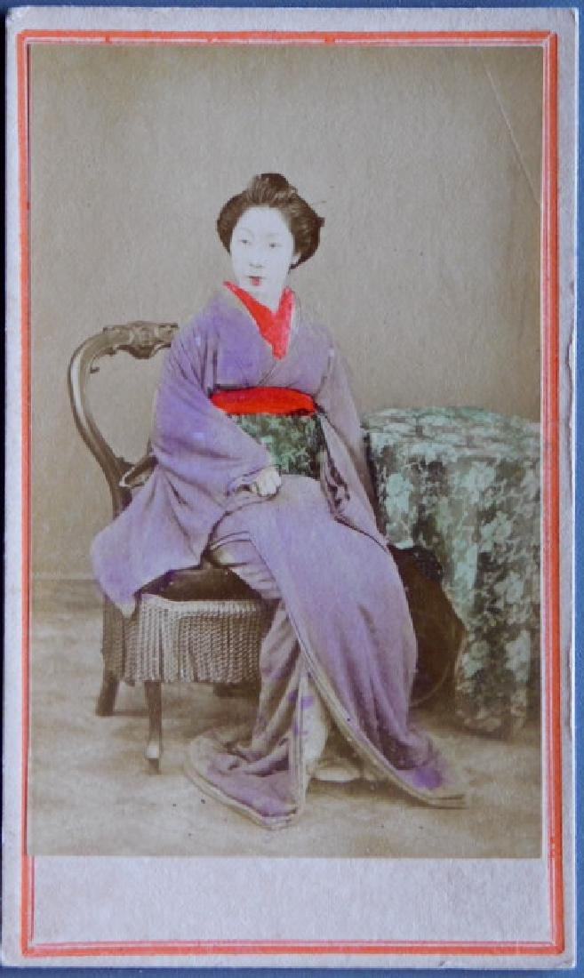 Hand-tinted Japanese Lady