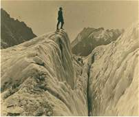 On top of the Mer de Glace, Chamonix, 1925