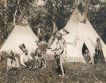 Blackfeet Indians, Montana, U.S.A. c1925