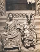 Ashanti Chief and His Wife, Gold Coast. c1925