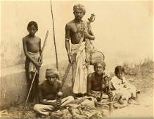 Street Performers, India. C1870