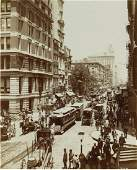 New York City at Broadway near John Street. c1895