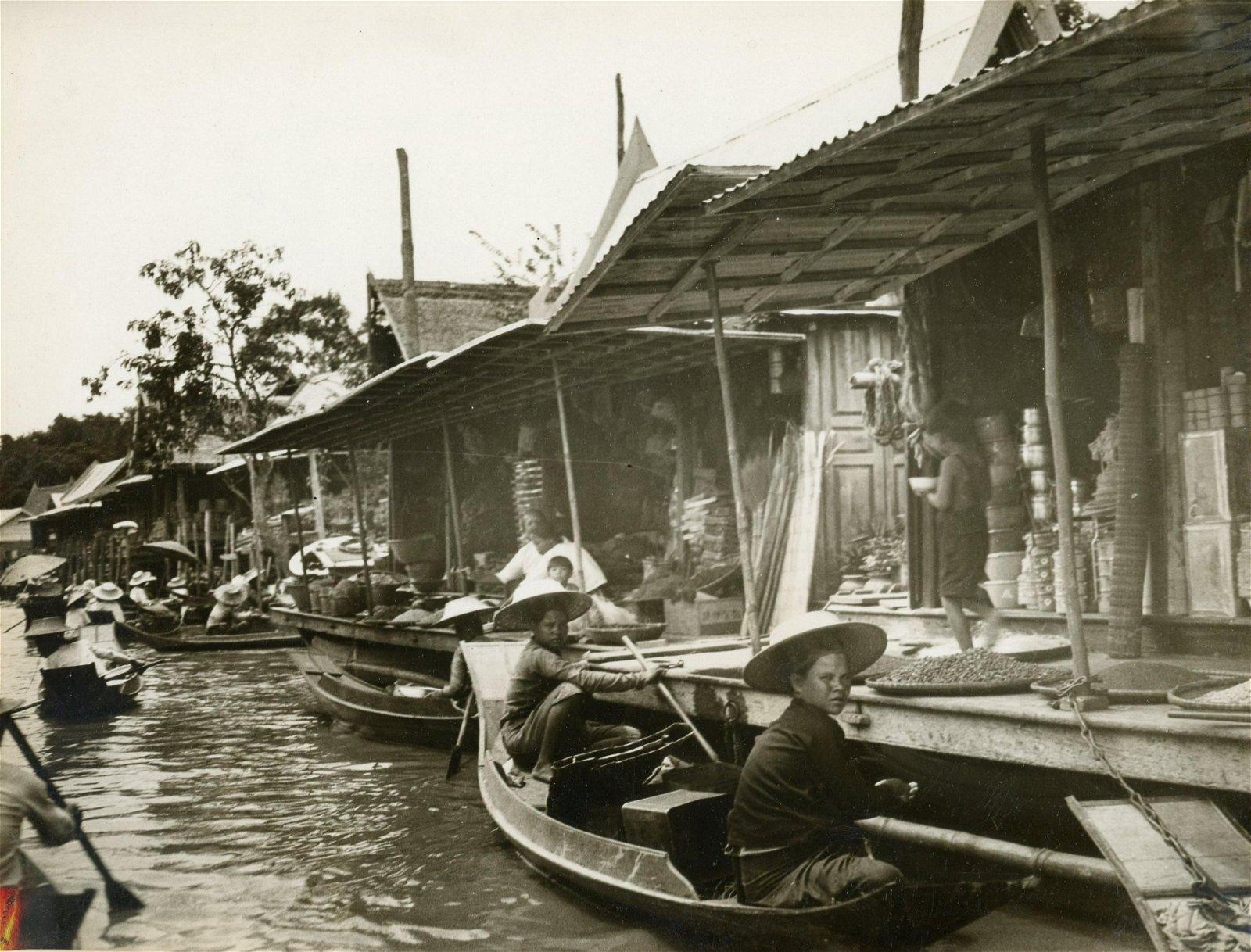 The Main Canal in Ayuthia, near Bangkok, Thailand.