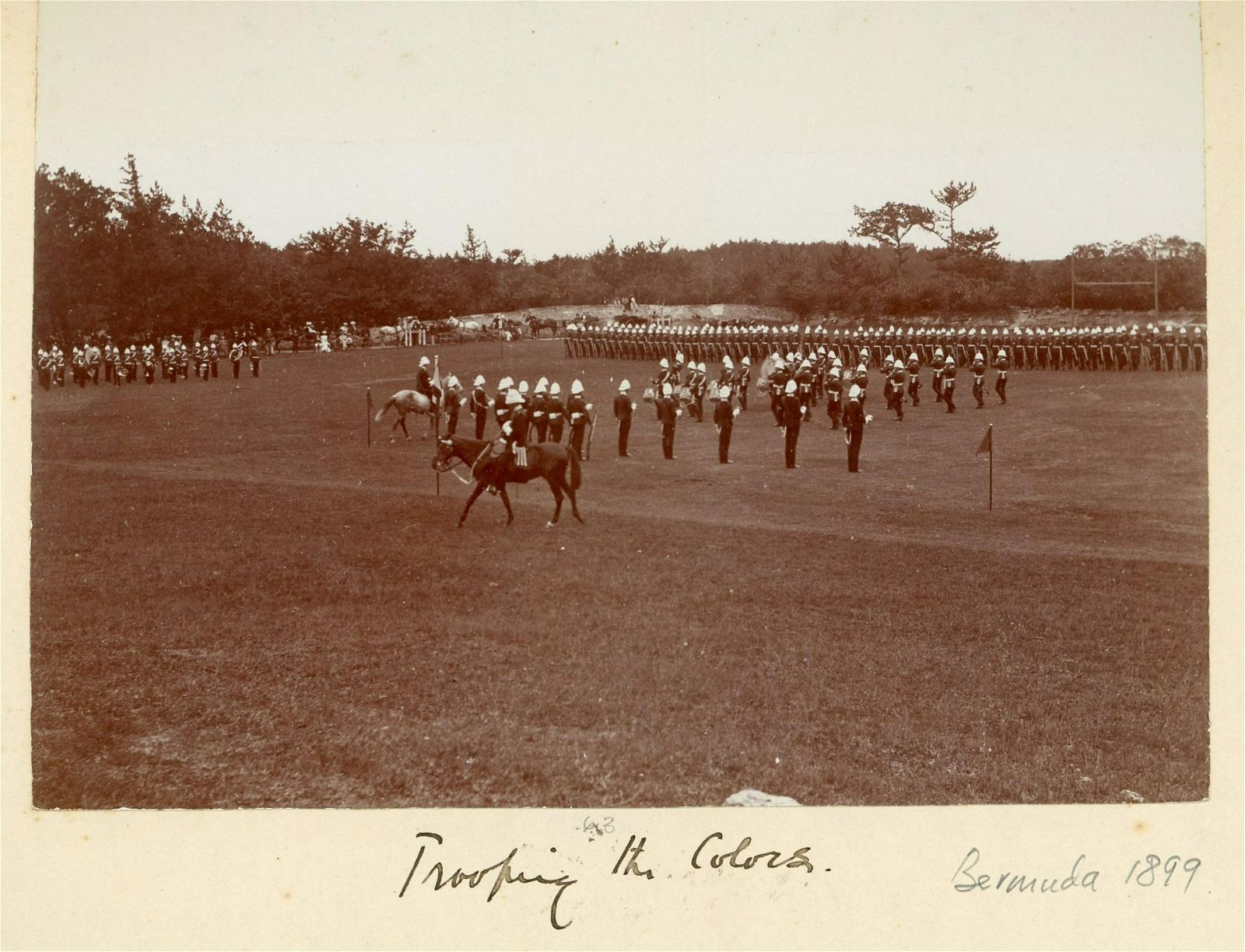 4 Views of the Trooping of the Colour, Bermuda. c1899
