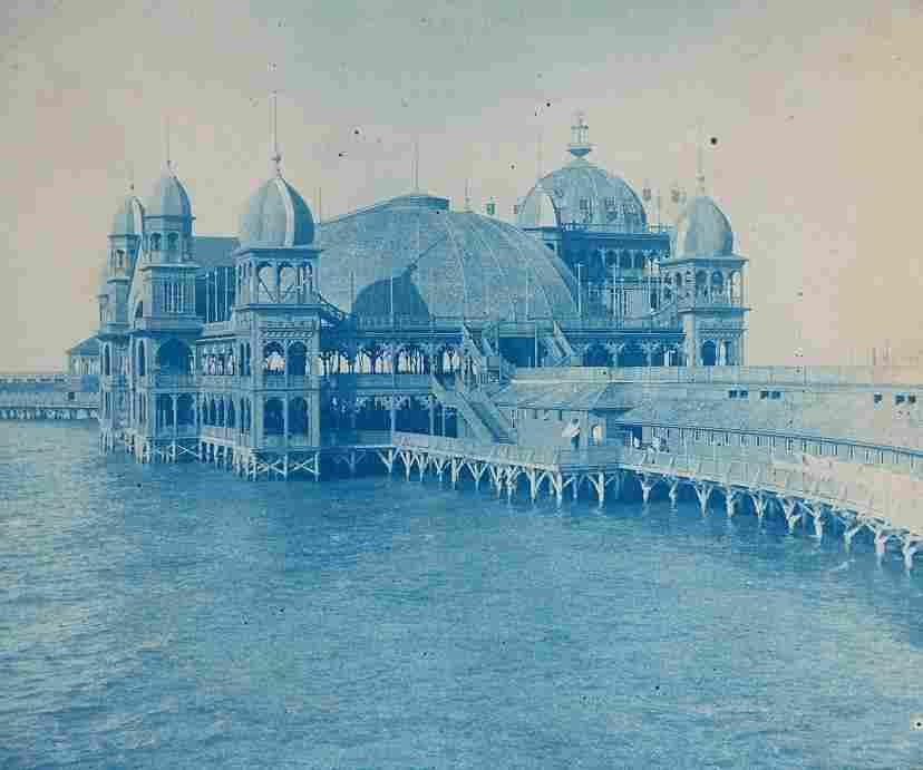 Pier of the Great Salt Lake, Utah. C 1900