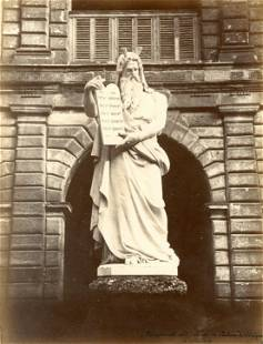 Moses Statue at Eveque Palace Milan c1880