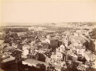 Panorama of Genoa c1880 by A Noack