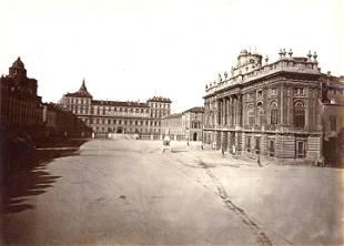 Moncalieri Castle and Palazzo Madama Turin c1880