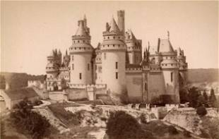 Chateau at PierrefondsFrance after the restoration