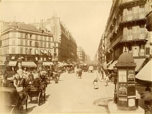 Paris Summer Street Scene c1875