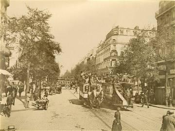 Heavy Traffic on the Rue de Strasbourg, Paris. c1880