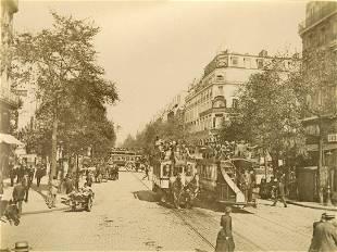 Heavy Traffic on the Rue de Strasbourg Paris c1880