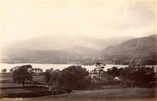 Coniston and Old Man Lake District UK c1890