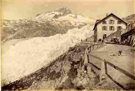 Rhone Glacier, Switzerland. C1880