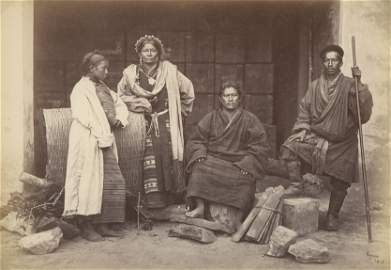 A Group of Bhooteas, Darjeeling. c1865