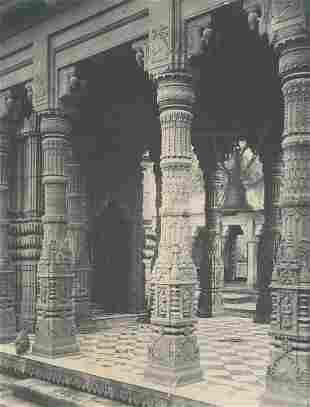 The Monkey Temple Benares India C1950