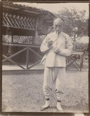 Chinese smoking opium pipec1910