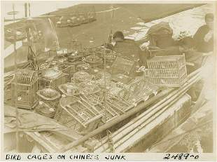 Bird Cages on a Chinese Junk c1920