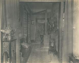 Interior of a home in Shanghai China C1900