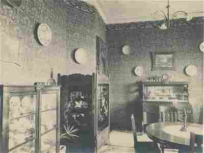 Interior of a home in Shanghai, China. C1900.