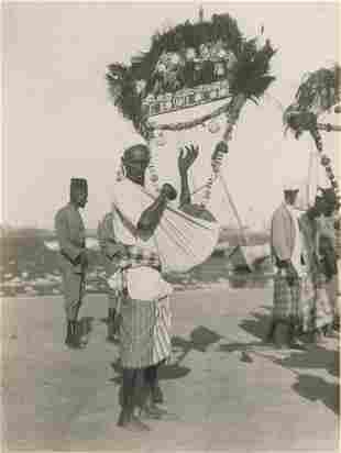 Native Harpist Samolia c1925