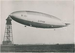 R101 British rigid airship completed in 1929