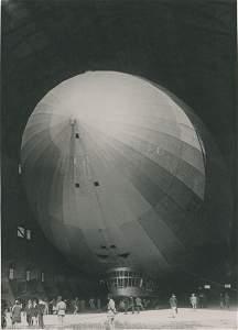 Graf Zeppelin in the Hangar at Cuers Pierrefeu. C1924