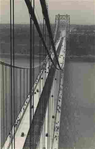 Looking across the George Washington Bridge from New