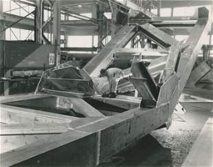Aluminium superstructure being made to support a new