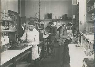 Scientists at Work in a Laboratory c1920