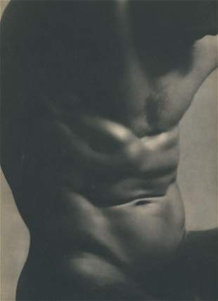 Male Nude by laure Albin-Guillot. C1950