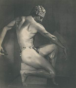 Male Nude by Andre Garban. c1950