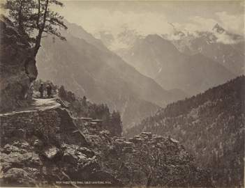 View from the new road at Pangi. C1865