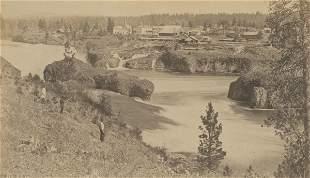 Spokane Falls from the Town, Washington Territories.