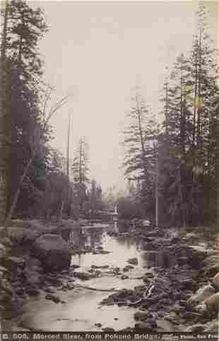Merced River from Pohono Bridge California c1880