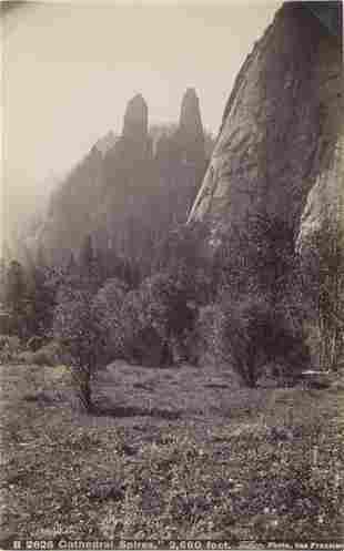 Cathedral Spires Yosemite California C1880