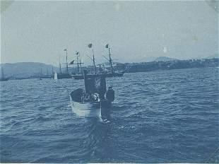 Cyanotype of a Ship in Rio de Janeiro Christmas 1893