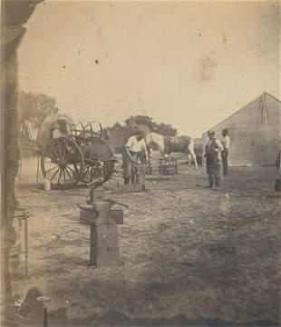 Blacksmith at work c1860