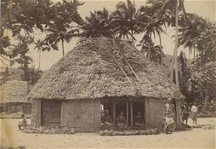 Tamasese and his Falehouse Lufilufi Samoa c1893