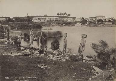 The Sunken Pah, Ohinemutu, New Zealand. c1880