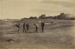 Golf at St. Andrews, Scotland. C1875