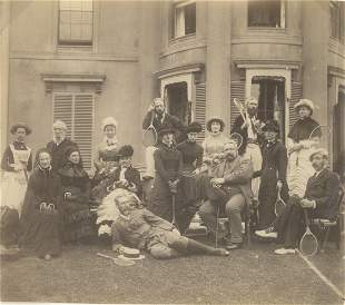 The Tennis Party c1890