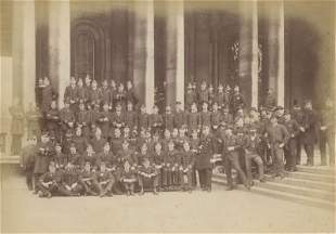 Naval Officers Cadets Greenwich England c1885