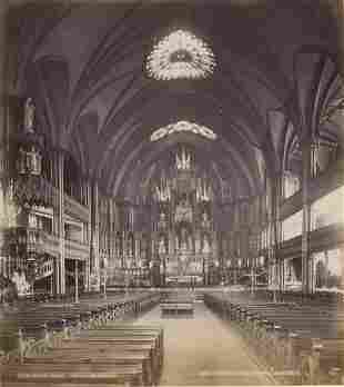 Notre Dame Church, Montreal. C1880