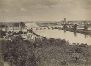 Panorama of Tours and the Loire River