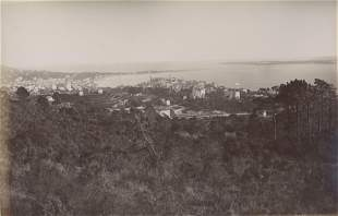 Panorama of Cannes and Isle of St Marguerite Cote