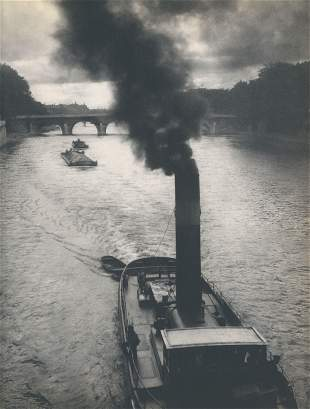 Boat on the Seine C1950