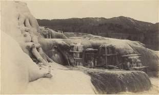 Mammoth Hot Springs, Yellowstone, Wyoming. C1880