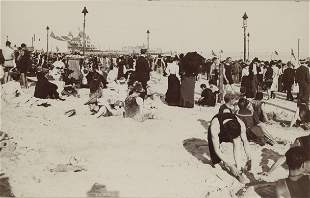 View of the Beach at Coney Island, c1895